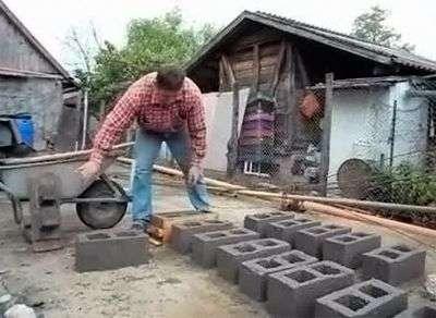 Виготовлення шлакоблоків своїми руками