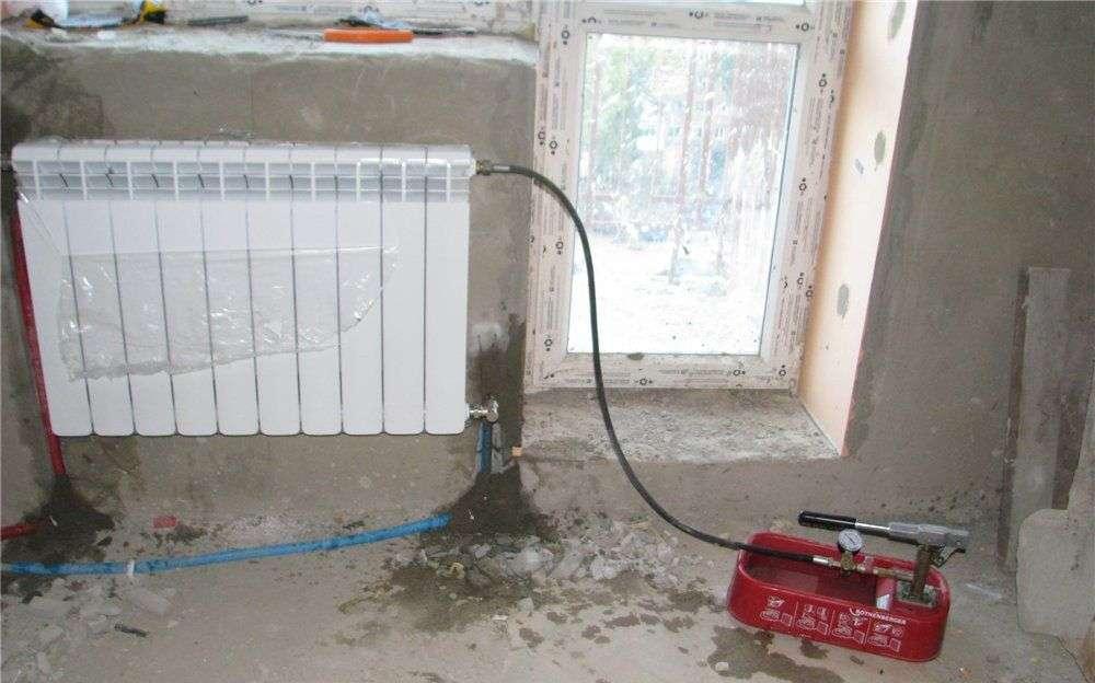 Промивання й опресування системи опалення