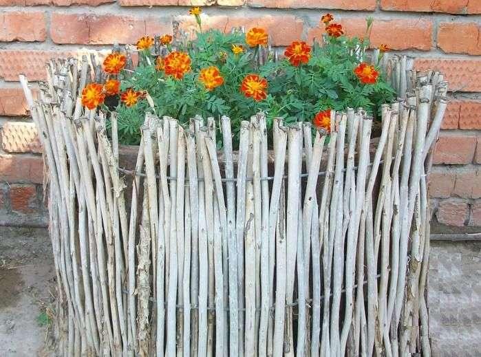 Плетений паркан своїми руками