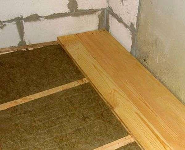 Утеплення підлоги першого поверху