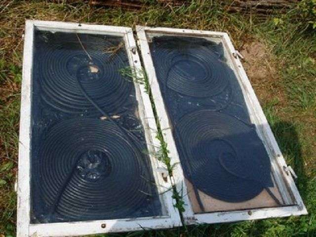 Сонячний водонагрівач своїми руками