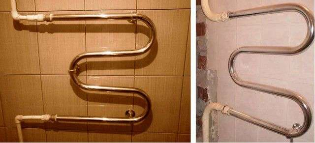 Установка рушникосушки у ванній