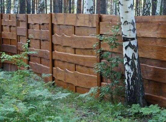 Деревяний паркан своїми руками